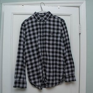 Other - Slim Fit Grey And Black Flannel Button Down Shirt